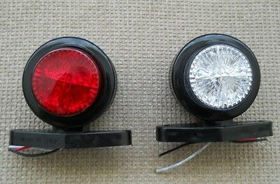 1 LED Side Marker Light Indicator R/W Truck Trailer Van Chassis Lorry Camper Bus