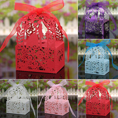 Hollow Candy Box Boxes Gift With Ribbons 6*4*3.5cm Ribbon+Paper Party Newest