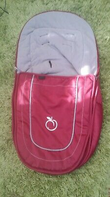 ICANDY peach jogger  main seat  footmuff cosytoes cranberry red