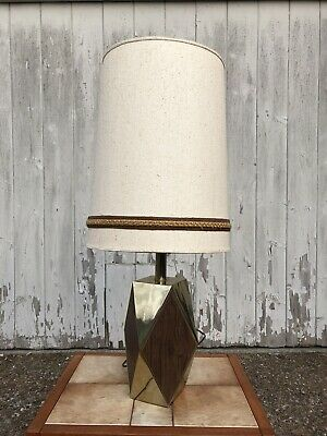 Vintage Mid Century Modern Laurel Lamp With Gold Wooden Base