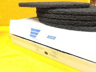 "New Case Of (5) Norton 17"" Tough Finish 52002 Floor Maintenance Pads 662610"