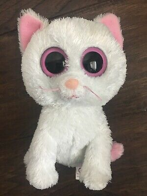 TY Beanie Boos - Solid eyes- Cashmere the White Cat-  No Hang Tag