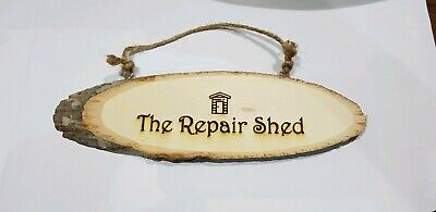 Personalised Wooden Log Sign Wood Plaque - Laser Engraved - Any Text or Font