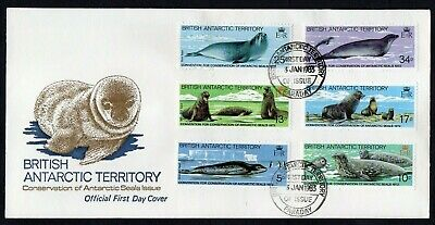 British Antarctic Territory 1983 Seal Conservation FDC SG 113-118 (MB)