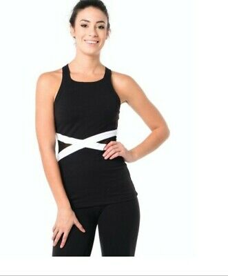 6ff35aad63 NWT Beyond Yoga X Marked Mesh Slimming Tank Top Black/White Size Small MSRP  $88