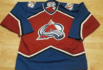 NHL Colorado Avalanche CCM hockey jersey Large Team Jersey mens Large GUC fc763fc5b
