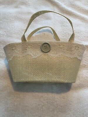 Bridesmaid Handbags/Baskets Buttons And Lace Flower Girl