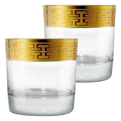 Zwiesel 1872 Hommage Gold Classic Whiskyglas Gross 2er Whisky Tumbler Glas 397ml