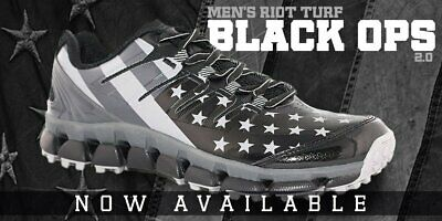 9496b77176a Men s Boombah Black Ops Riot Turf Size 9 M NEW Softball Baseball Shoes
