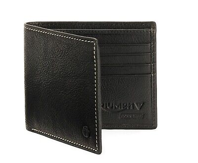Genuine Triumph Motorcycles Leather Wallet Black Leather Wallet In Gift Box