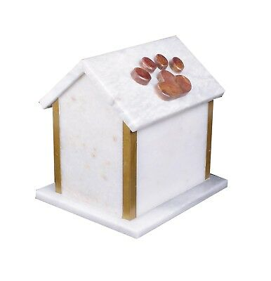 Pet Cremation Urn for ashes Funeral Memorial Urn Marble Dog House urn