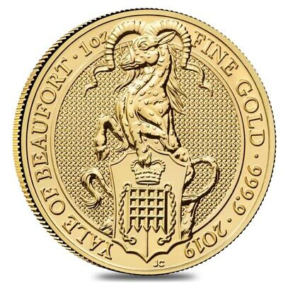 2019 Great Britain 1 oz Gold Queen's Beasts (Yale) Coin .9999 Fine BU