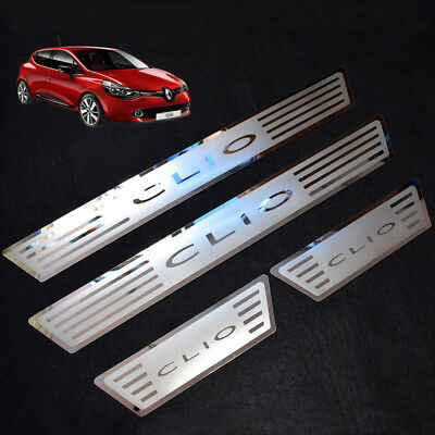 Renault CLIO IV 4 2014 ONWARDS Stainless Steel Scuff Plate Door Sill Covers/