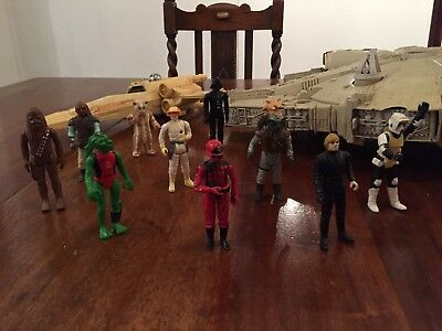 Star Wars Milenium falcon, X Wing And 11 Figures