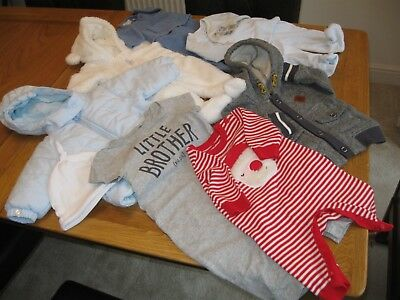 8 Baby Boys Items 0-6 Mth Timberland Zara H&M Absorba Mothercare Emile et Rose