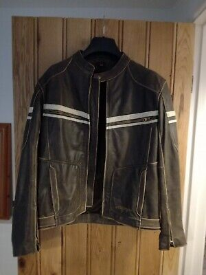 RST Retro Brown Leather Jacket, brilliant condition...no wear - Size 42