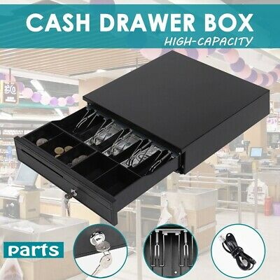 Electronic Cash Drawer Register With Removable Coins Tray Heavy Duty Storage