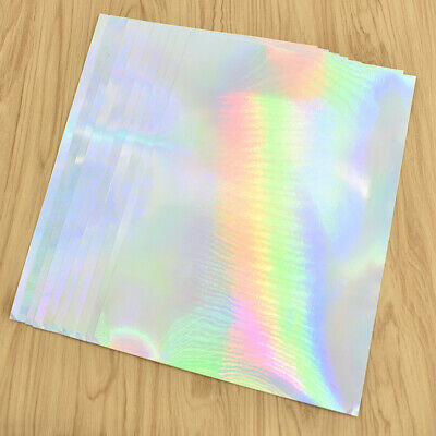 10pcs A4 Adhesive Sticker Holographic label Paper For Professional Laser Printer