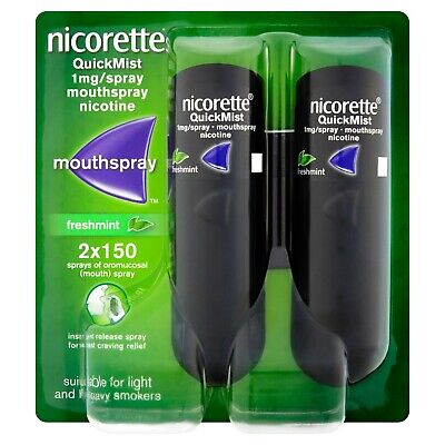 Nicorette Quickmist 1mg Mouthspray Freshmint 2x150 Spray big saving 100%