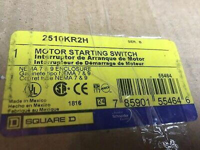 Square D Motor Starting Switch 2510KR2H Motor Starting Switc. Brand New In Box!