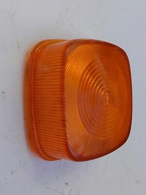 Motorcycle Indicator Lens Honda Square Clip On Amber
