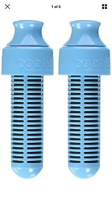 30eb8ccf26 Bobble Water Bottle Replacement Filters Pack of 2 NIB BPA Free Priority  Shipping