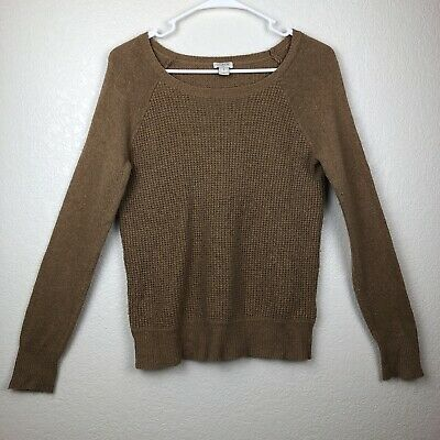 J Crew Mercantile Camel Chunky Knit Sweater Womens Small Crew Neck Tan  Pullover 6c32c02cb