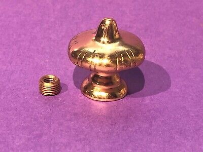 "New Unf Solid Brass 1-1/2"" Handel style Finial topper Knob tap 1/8IPS or 1/4""-27"