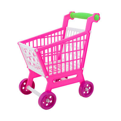 Miniature Supermarket Shopping Hand Trolley Cart for Kids Role Play Toys