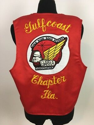 Gold wing road riders club motorcyclle patch Gulf Coast charter member vest  L