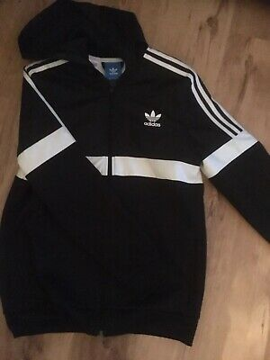 adidas boys hooded tracksuit top Age 15-16 Years