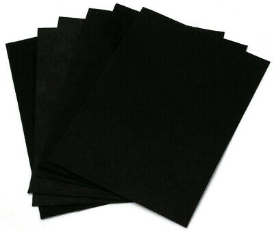 "Ultrasuede® 5""x 7"" Precut 6 Piece Pack - Black - Medium Weight U004.07"