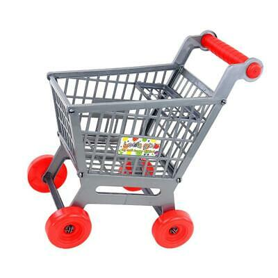 Miniature Supermarket Shopping Trolley Cart for Kids Role Play Toy Gray