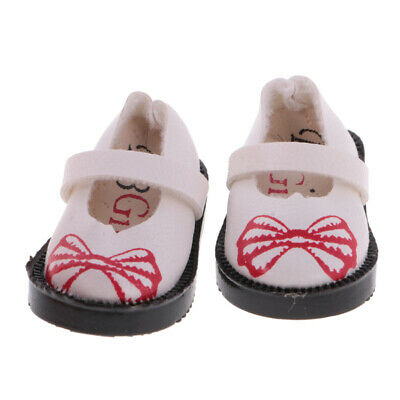 1 Pair of PU Leather Flat Shoes for 1:6 12'' Blythe Doll Clothing Accs White