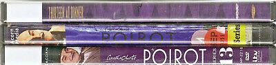 Poirot episodes on DVD; 3rd one FREE! Agatha Christie; PBS Mystery; ex-library
