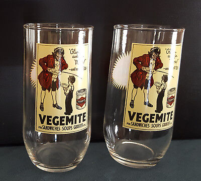 2 x Kraft Vegemite Collectable Glass: 80 Years Of Vegemite