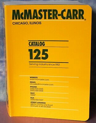 McMaster Carr Catalog 125 Chicago, IL Edition