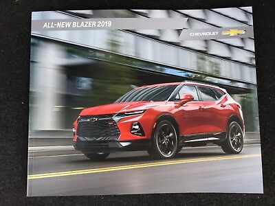 2019 CHEVY BLAZER 40-page Original Sales Brochure (ALL NEW!!!)