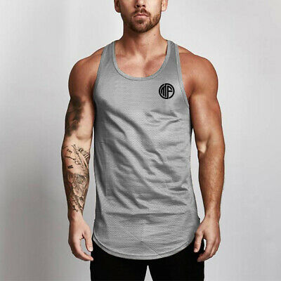 Men's Fitness Quick Dry Gym Tank Tops Workout Bodybuilding Breathable Undershirt