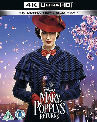 Mary Poppins Returns 4K Ultra HD Blu-ray Emily Blunt NEW Pre-Order 8717418545109