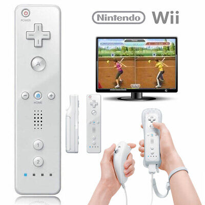 New Remote Wiimote Nunchuck Controller Set Combo for Nintendo Wii Game White US