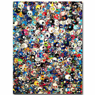 30x20 36x24 Silk Poster Takashi Murakami Japanese Pop Trippy Skull Hot T-23