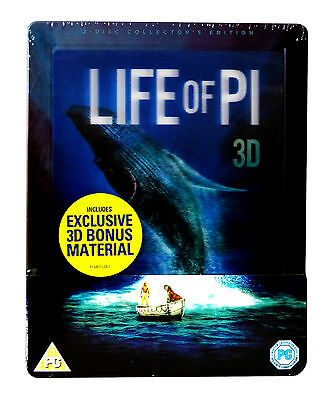 Life of Pi (UK Limited Edition Steelbook) (Blu-ray 3D + Blu-ray + UV Copy)