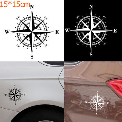 15 x 15cm New Door Art  Design Vinyl Auto Decal Car Sticker Window NSWE Compass