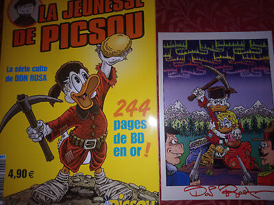 Jeunesse Picsou The Life and Times of Scrooge McDuck+ litho Signed By Don Rosa