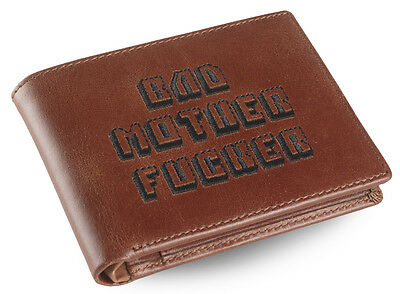 Premium Brown Leather BMF (Bad Mother Fu**er) Wallet As Seen in Pulp Fiction