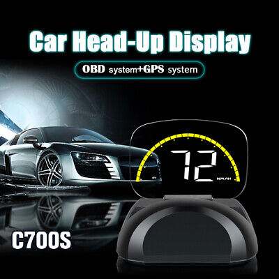 "Car HUD Head Up Display OBD2 Auto Gauge 4"" Dash Screen Speeding Warning"
