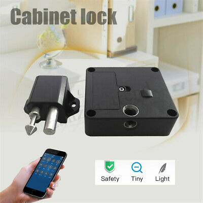 Electronic Bluetooth Smart Hidden Cabinet Lock Door Drawer Auto Safety Secure