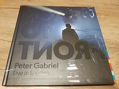 """Peter Gabriel """"back To Front - Live In London"""" 2Blu-Rays+2Cd Deluxe Book Box Set"""