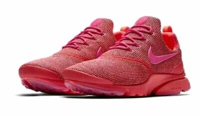 more photos afc06 d29ee WMNS NIKE PRESTO Fly SE 910570-604 Hot Punch Pink Mesh Running Shoes NIB!!